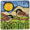 Laura Fraedrich - Batik Bird Plate