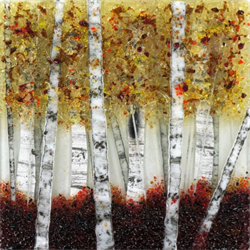 Denise Gibson- Fused Glass Birch